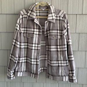Isaac Mizrahi Live! Gray Flannel Jacket
